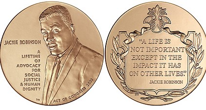 2003 Jackie Robinson Congressional Gold Medal / wikimedia